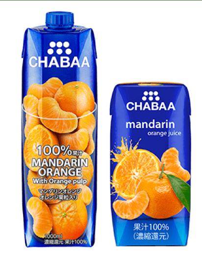 チャバマンダリンオレンジジュース
