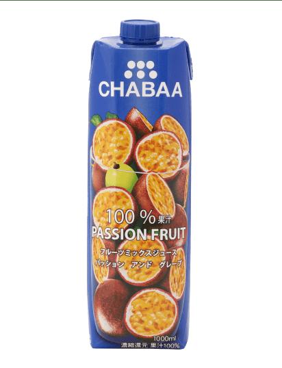 チャバ パッションフルーツ&グレープミックスジュース
